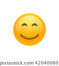 Smile face emoji vector icon 42040060