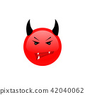 Angry face. Angry icon. Triste emotion. 42040062