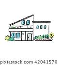House Single Real Estate Illustration Hand Drawn 42041570