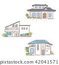 House Single Real Estate Illustration Hand Drawn 42041571