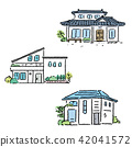 House Single Real Estate Illustration Hand Drawn 42041572