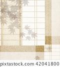 Japanese - Background - Shoji paper - bran - Autumn leaves 42041800