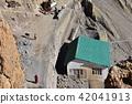 인도 히말라야 산악 지대 스삐티 계곡의 단카루 마을화물 하역을하는 마을 산책하는 승려와 당나귀 42041913