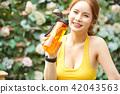여성 스포츠 달리기 42043563