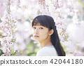 櫻花和女性肖像 42044180