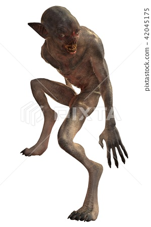 Mutant monster isolated on white background 42045175