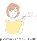 成熟的女人 一個年輕成年女性 女生 42045409