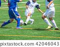 男孩的足球比赛风景 42046043
