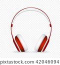 Vector realistic headphone 42046094