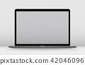 Laptop perspective transparent. 42046096
