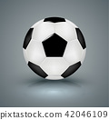 Soccer ball. Vector illustration. 42046109