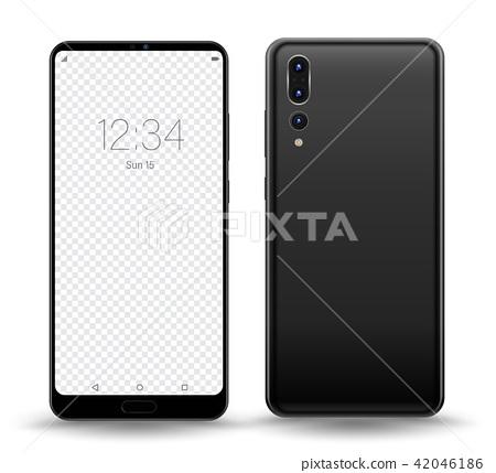 Smartphone mockup transparent screen 42046186