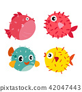 puffer fish vector collection design 42047443