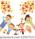 睡觉的家庭,当看秋叶时 42047523