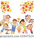 睡觉三世代的家庭,当看秋叶时 42047524