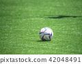 在球場上的足球 42048491