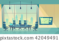 Vector conference hall for business seminar, workplace 42049491