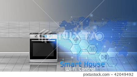 Smart house vector concept background 42049492