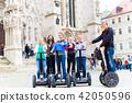 Tourists having Segway sightseeing 42050596