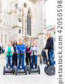 Tourists having Segway sightseeing 42050598