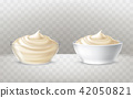 illustration of mayonnaise, sour cream, sauce, sweet cream, yogurt, cosmetic cream 42050821