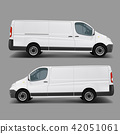 White commercial cargo minivan template  42051061