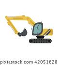 Crawler Excavator Flat Icon 42051628