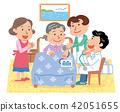 방문 진료 재택 의료 고령자 일러스트 42051655
