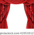Stage curtain with copyspace realistic  42053012