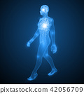 energy of the walking man. 42056709