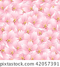 Sakura Cherry Blossom Seamless Background 42057391