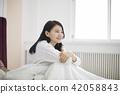 여성,여자,라이프스타일,일상,여가,여유,휴식,기상,아침 42058843