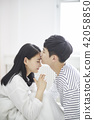 인물, 커플, 침대 42058850