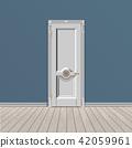 white entrance door 42059961