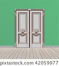 white double entrance door 42059977