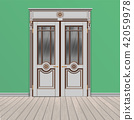 white double entrance door 42059978
