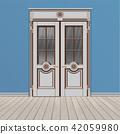 white double entrance door 42059980