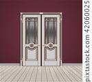 white double entrance door 42060025