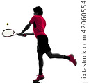 网球 球员 侧影 42060554