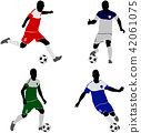 soccer players silhouettes 42061075