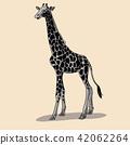 Giraffe side view pose.  42062264