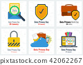 Six business flat concepts - Data Privacy Day 42062267
