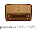 Old radio. Realistic illustration of an old radio 42062273