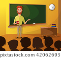 Teacher Teaching Students In Classroom, World Book Day, Back to school, Stationery, Book, Children 42062693