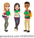 Students Group Standing 42063094
