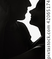 couple, silhouette, people 42065174