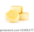Slavic type of cheese isolated on white 42066377