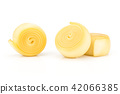 Slavic type of cheese isolated on white 42066385