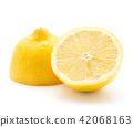 Fresh lemon isolated on white 42068163