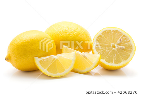 Fresh lemon isolated on white 42068270